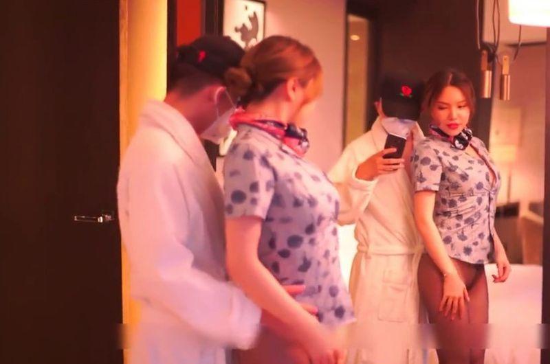 空姐兼職外圍女黃某然酒店給富二代提供特殊服務-ms